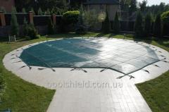 Pooldeckungen Schild Pool Cover