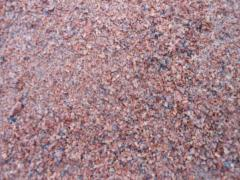Elimination of granite 0-5 mm