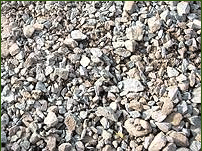 Ballast (sand-crushed-stone mix)