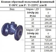 Backpressure lifting valve flange