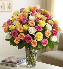 Букеты на заказ с доставкой, сердца из цветов,