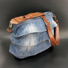Сумка средняя джинсовая женская 6102/6012