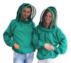 Куртка пчеловода с маской Евро. Ткань габардин. 54/56, XL