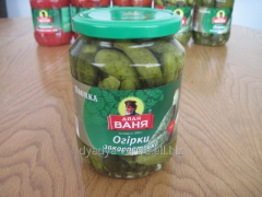 Cucumbers marinated Zakarpatye 720 ml (680 g) from
