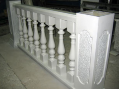 Balustrade from fibreglass
