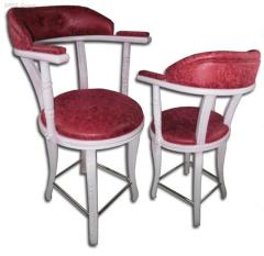 Wooden chairs W-09, chair with an armrest for a