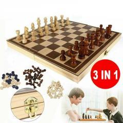 Шахматы, шашки, нарды-(3 в 1)