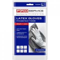 Перчатки резиновые PRO Service желтые