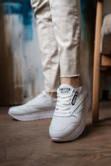Женские кроссовки кожаные летние белые Emirro R17