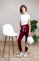 Однотонные спортивные брюки джоггеры для девочки