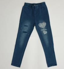 Трикотажные подростковые лосины под джинс для