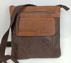 Вертикальная мужская кожаная сумка Always Wild