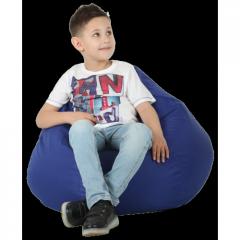 Кресло-груша Синяя Детская 60х90 Средняя 80х100
