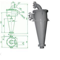 Гидроциклон с футеровкой из карбида кремния