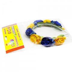 """Цветочный обруч """"Жёлто-синие пионы"""" ОУ027у"""