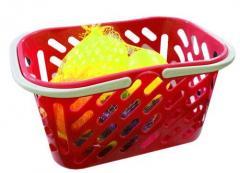 Корзинка красная с фруктами,  8 предметов...