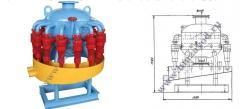 Desilter hydroclone circular