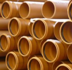 Трубы поливинилхлоридные для наружной канализации
