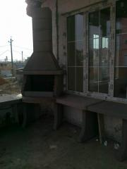 We build a barbecue in Odessa, Ukraine
