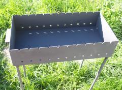 Стальные Мангалы для дома 600х300х135 мм сталь 3мм