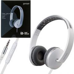 Наушники с микрофоном Gorsun GS-785 серо-белые