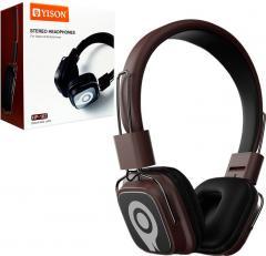 Наушники с микрофоном Yison HP-162 коричневые