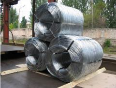 Low-carbonaceous galvanized wire soft, with