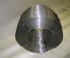 Wire low-carbonaceous thermally raw without