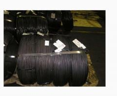 Wire low-carbonaceous thermally processed without