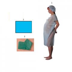 Комплект одноразовой одежды для гинекологического