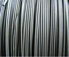 Wire from high carbon steel for reinforcing