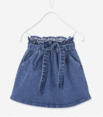 Джинсовая юбка для девочки Vertbaudet