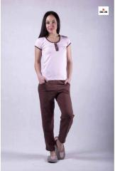 Женский домашний комплект футболка со штанами