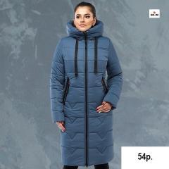Пуховик женский теплый длинный с капюшоном на зиму