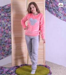 Пижама детская махровая теплая для девочки Микки