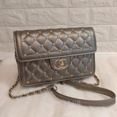 Женская сумка классичекая мини с ремешком цепью
