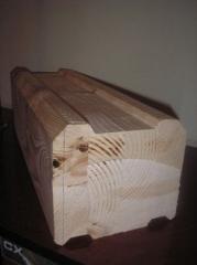 Брус профилированный стеновой клееный сушеный