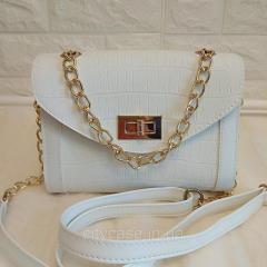 Женская сумка мини (белая)
