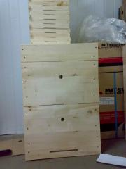Beehives are vertical