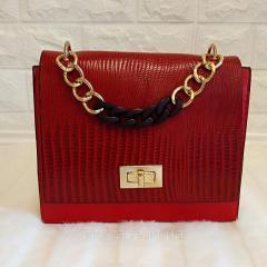 Маленькая женская сумка с цепью (красный )