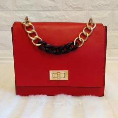 Маленькая женская сумка с цепью (красный 2)