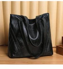 Рюкзак молодежный холщевый черно-белый