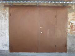 Metal high-strength gate for garages