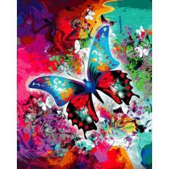 Картина по номерам VP1314 Бабочка в красках