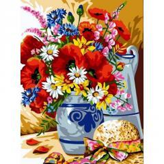 Картина по номерам Шляпка у вазы с цветами, 30x40