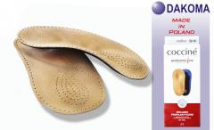 Dakoma Ortho Axel VZ полустелька-супинатор, пластиковый каркас, кожа, амортизатор пятки