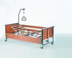 Медицинская кровать Invacare Medley Ergo W с электроприводом, деревянные ламели