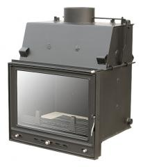 Chimney fire chamber with a vodyany contour of