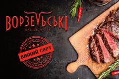 Мясные деликатесы и колбасы (щека / грудинка /