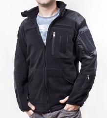 Tactical fleece jacket Peel (black)